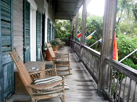 Conch republic musings meditations hollywood elsewhere for Cypress porch columns